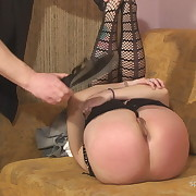 Salacious maiden has brutal spanks on her bottom
