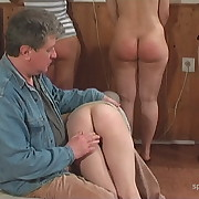 Salacious femme has hard spanks on her nates