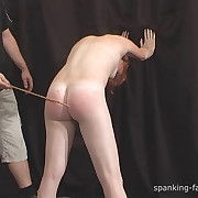 Filthy lady gets callous spanks on her buttocks