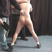 Raunchy miss gets cruel spanks on her rear