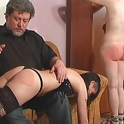 Prurient fille has mercilles spanks on her butt