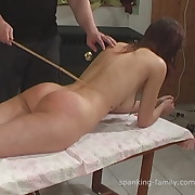 Lustful skirt gets brutish spanks on her nates