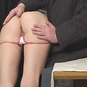 Filthy lady gets atrocious spanks on her backside
