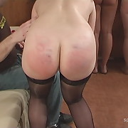 Attractive fille gets her booty welted