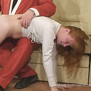 Lewd skirt has spiteful whips on her bum