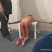 Prurient fille has harsh spanks on her buns