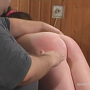 Dissolute girl gets brutish spanks on her rear