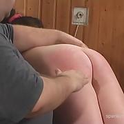 Dissolute girl gets brutish spanks on her rear
