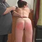 Prurient skirt has brutish spanks on her buttocks