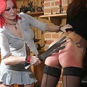 Bad girl spanked and whipped
