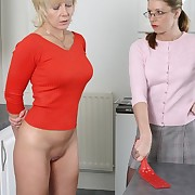 Mature spanked insusceptible to the kitchen