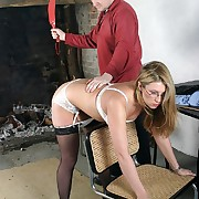 Spanking of bad wife