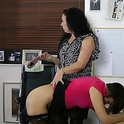 Pretty skirt gets her butt whipped