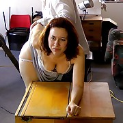 Wanton dame has hard spanks aloft the brush rear