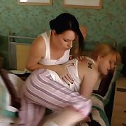 Jasmine lustful soubrette has harmful spanks at bottom her bottom