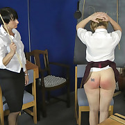 Lecherous Emma has cruel spanks on the brush hindquarters