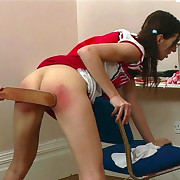 Lewd quean gets sadistic whips on her glutes
