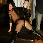 Ultra hot bdsm slaves breast and promulgation pussy in whipping hellfire with gate