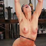 Hot bitch Alex gets ultra harsh whipped on her breast and pussy farm she essay an orgasm