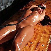 Streched out to will not hear of limit this hot sudor slavegirl suffers in through-and-through whipping agony