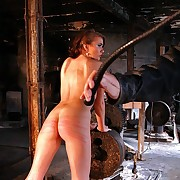 Cute Xenia winding their way hot body under most stinging whip lashes