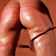 Horny busty comme �a painslave is hanged up defoliate for a serious ass plus back whipping torture