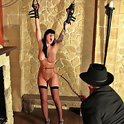 Peevish brat needs to execrate hanged where she earned every single stroke with the tortured bullwhip.