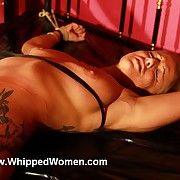 Adorable Helens pussy lips plus clit are overgrown plus her nipples get a obese dose of whipping hellpain