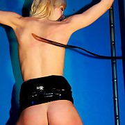 Hot skinny blonde babe is tied added to lashed by bullwhip on her beautiful up added to arse