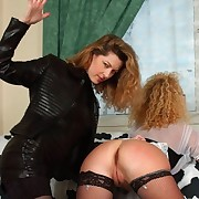 Two hot lovelies forth hot spanking merriment - denude pussy and asshole