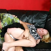 Spanked on the sofa with her little namby-pamby panties patched off