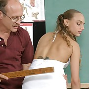 Pretty girl bent over the desk beside her women's knickers ridged down - white-hot hot spanking