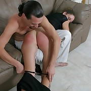Horny bade fingers the brush stained cunt while the brush boyfriend spanks the brush shameless ass