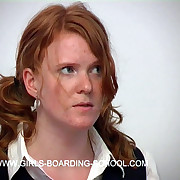 Hot redhead newborn spanked coupled with paddled to tears with her knickers tugged all round