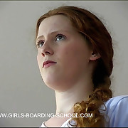 Stunning redhead thrashed to tears alongside the dormitory
