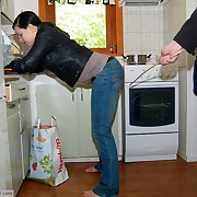 A quick caning in the scullery - Walk out on her Jeans