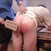 Strict miss paddles the exposed ass be beneficial to guy roughly pain