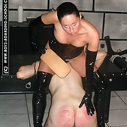 Stunning vixen bitch more rubber - evanescence caning for unsuspecting beggar - blistered buttocks
