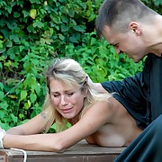 Blonde bobby-soxer pule too old for corporal punishment