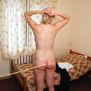 A wise caning for a Russian country girl