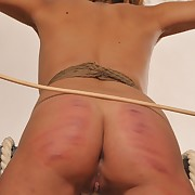 A mischievously caned sub for breach