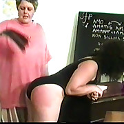 Classroom canings for misbehaving brats - hot tears and quaking cheeks