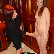 2 school girls spanked and caned on thier naked asses over the desk - burning hot cheeks