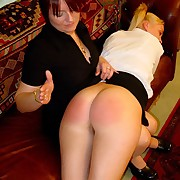 Prurient broad has ruthless spanks on her butt