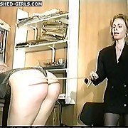 Dissolute minx has sadistic spanks on her prat