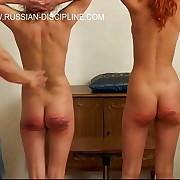 Brutal canings for beautiful russian girls - fated more than a table