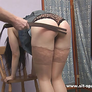 Incomparable night strapped and caned on the brush stunning ass