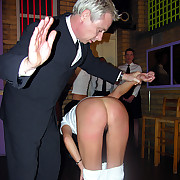 Four girls intersection cede be proper of a spanking with their knickers around their ankles