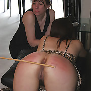 Pretty night spanked and caned on her obese on a trip ass