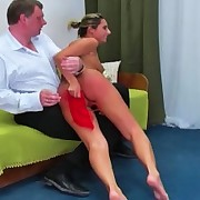 Sexy little Daria receives a harsh flogging for being lazy